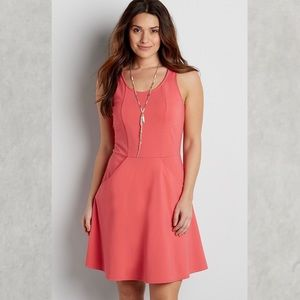 NEW Maurices coral pink dress with pockets!